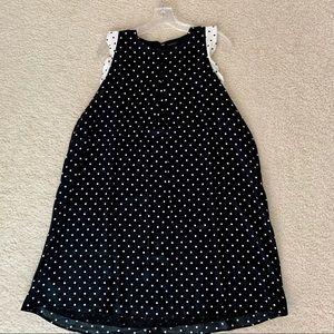 Ann Taylor polka dot swing dress